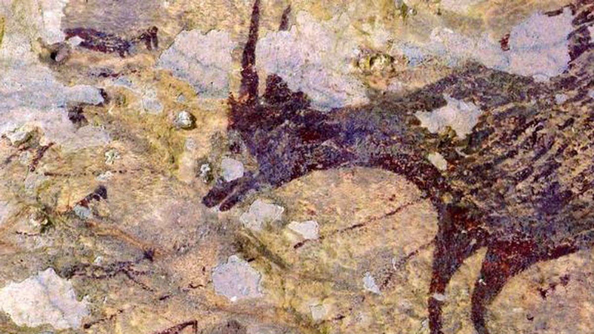 Una escena de caza de hace 44.000 años, las más antigua de la humanidad