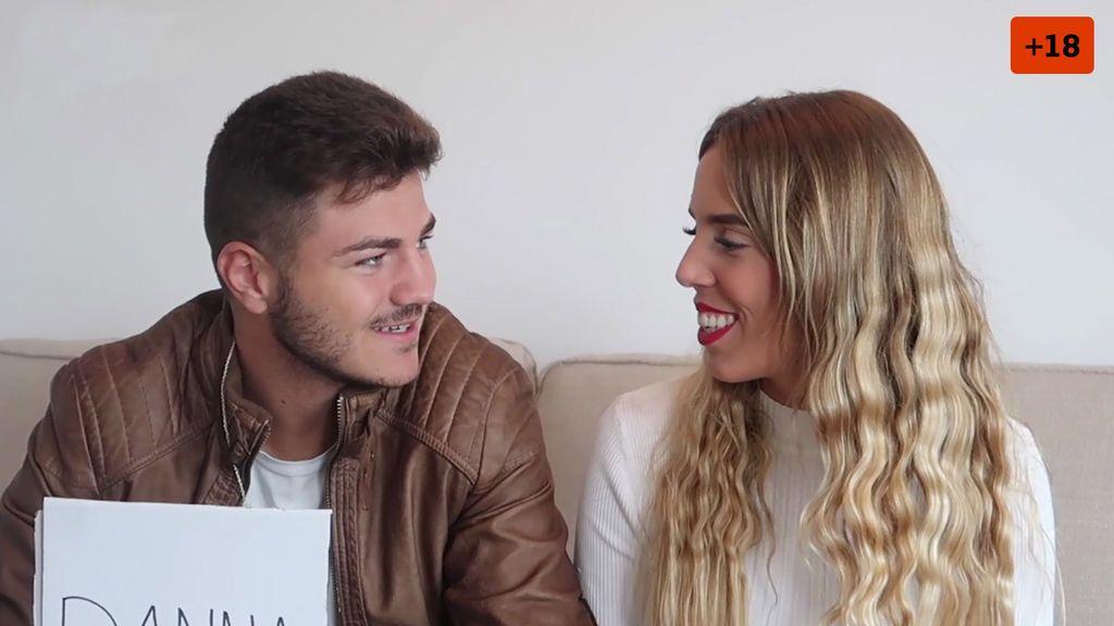 """Danna y Víctor se mojan y confiesan quién de los dos es más infiel: """"Yo lo tengo claro"""" (2/2)"""