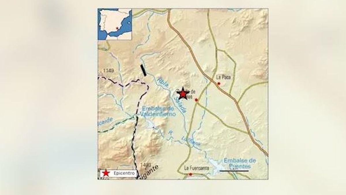 Un terremoto de 3,6 grados de magnitud se siente en Lorca