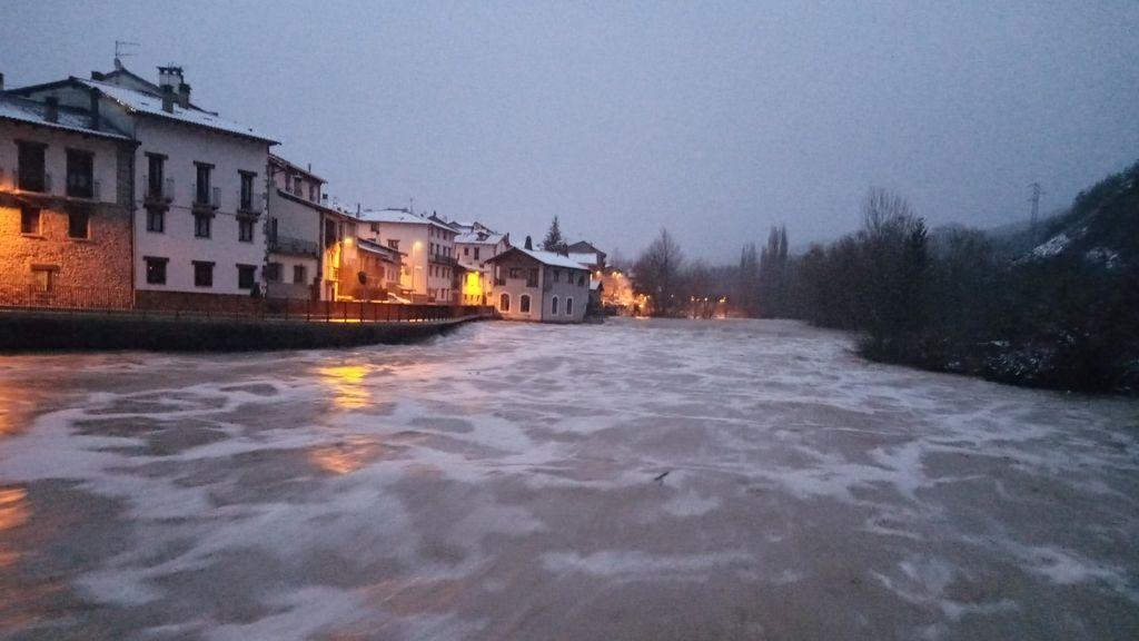 Ríos desbordados e inundaciones: las consecuencias de la borrasca en Navarra