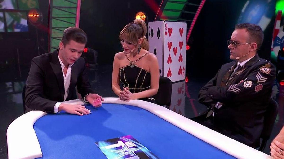 """La divertida reacción de David De Gea ante la victoria de Edurne con la magia de Magolucasss: """"No ha ganado una partida de póker en su vida"""""""