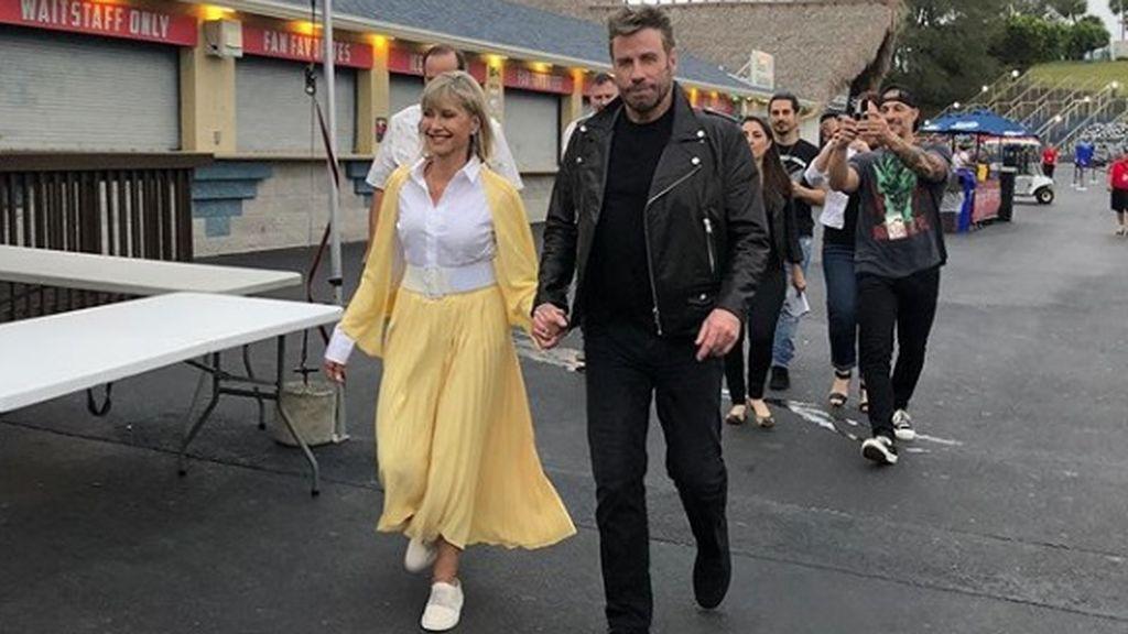 Olivia Newton-John y John Travolta se visten de 'Grease' por primera vez tras la película, hace 41 años