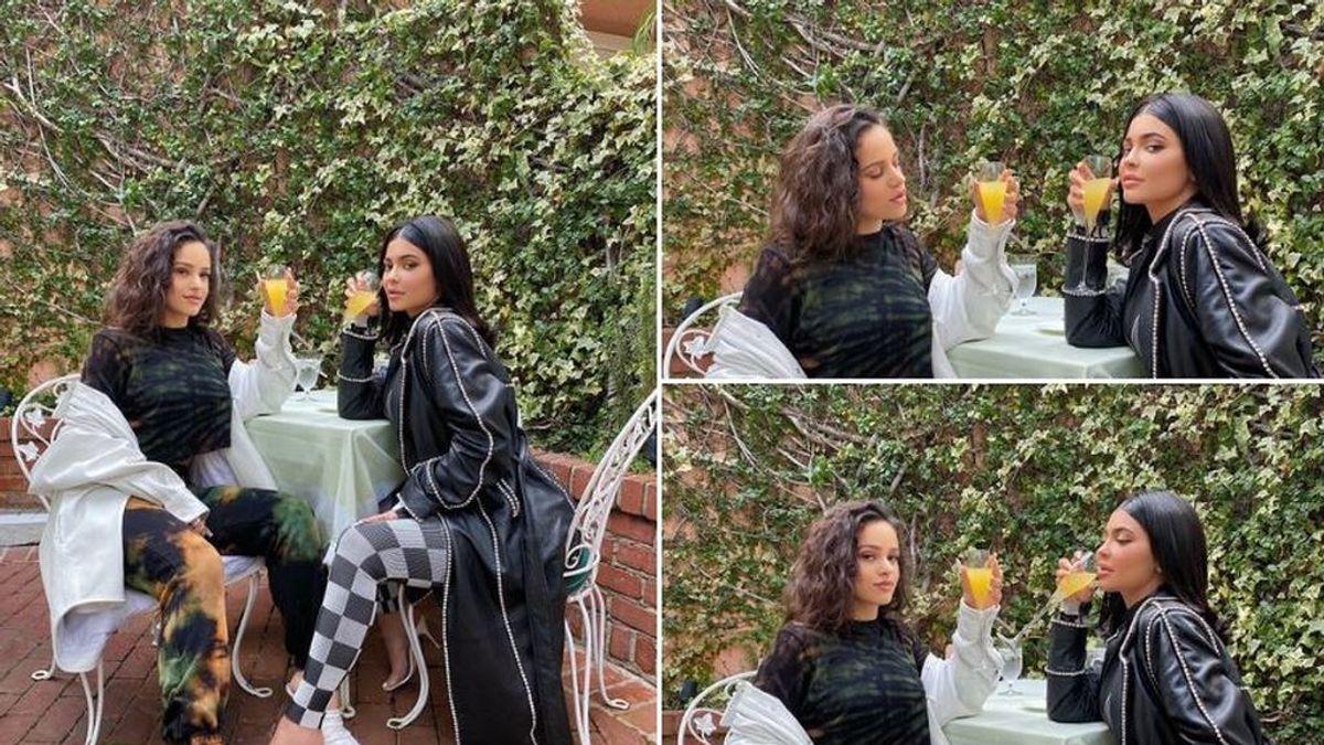 """""""Madre mía Rosalía"""": Kylie Jenner posa junto a la diva catalana en Twitter"""