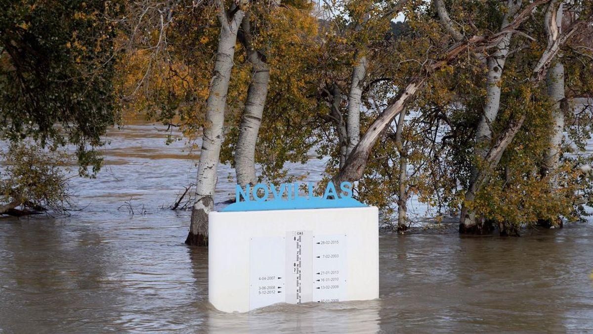 Zaragoza registrará la punta de la crecida del Ebro esta madrugada