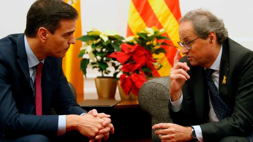 Sánchez y Torra en Pedralbes
