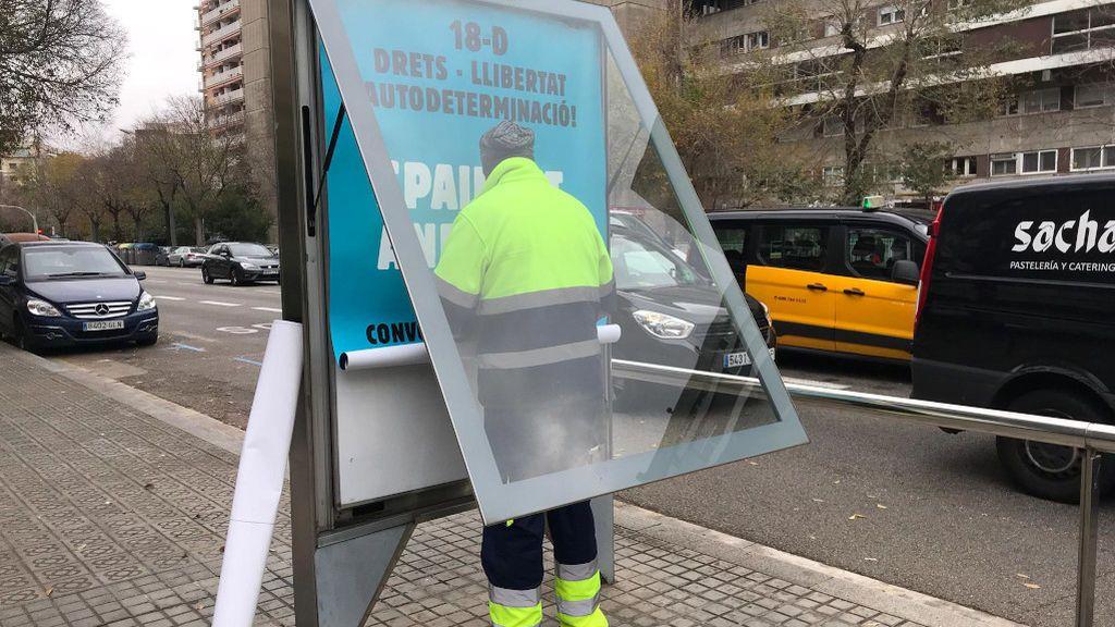 Tsunami Democràtic publicita la movilización del Barça-Madrid y el Ayuntamiento de Barcelona las retira