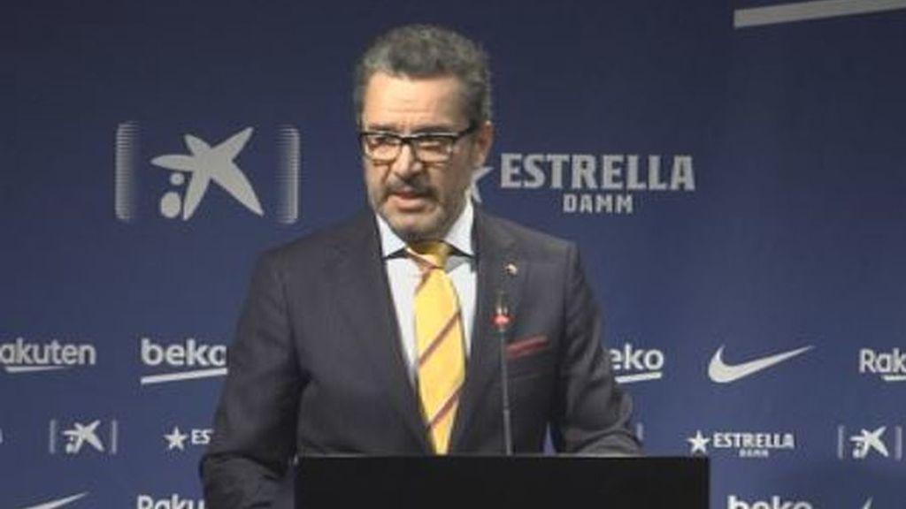 """Josep Vives, portavoz del Barça: """"No nos planteamos que el 'clásico' se cancele, se jugará"""""""