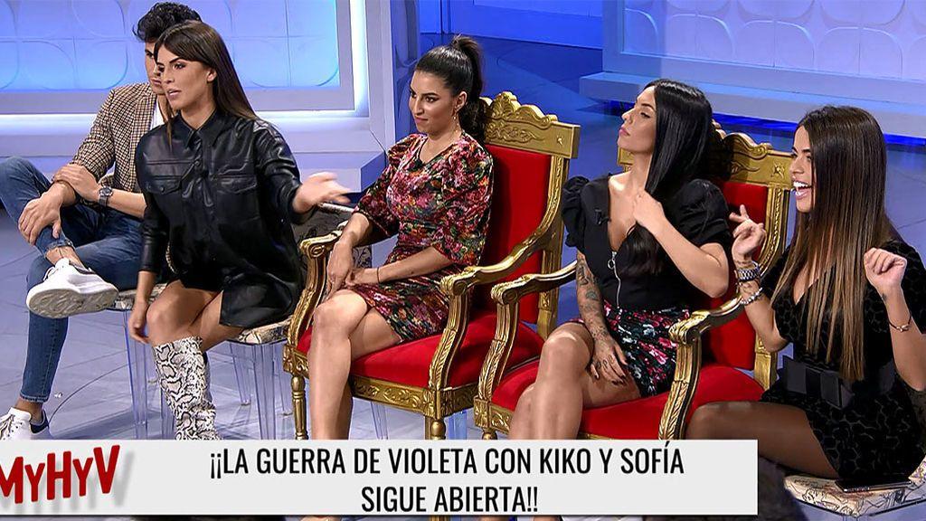La guerra abierta de Violeta, Sofía y Kiko