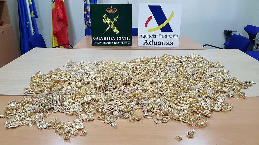 La Guardia Civil intercepta en Melilla 26 kilos de oro escondidos en pañales