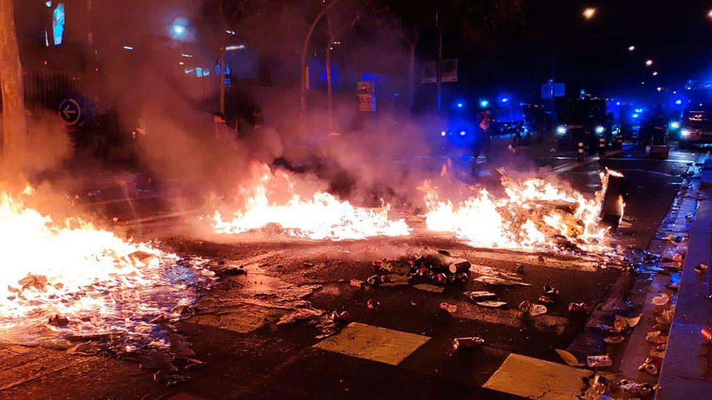 Fuego en las calles