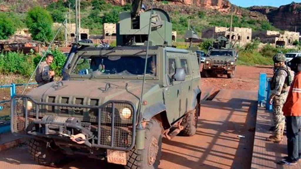 Cinco militares españoles heridos en un accidente en Mali