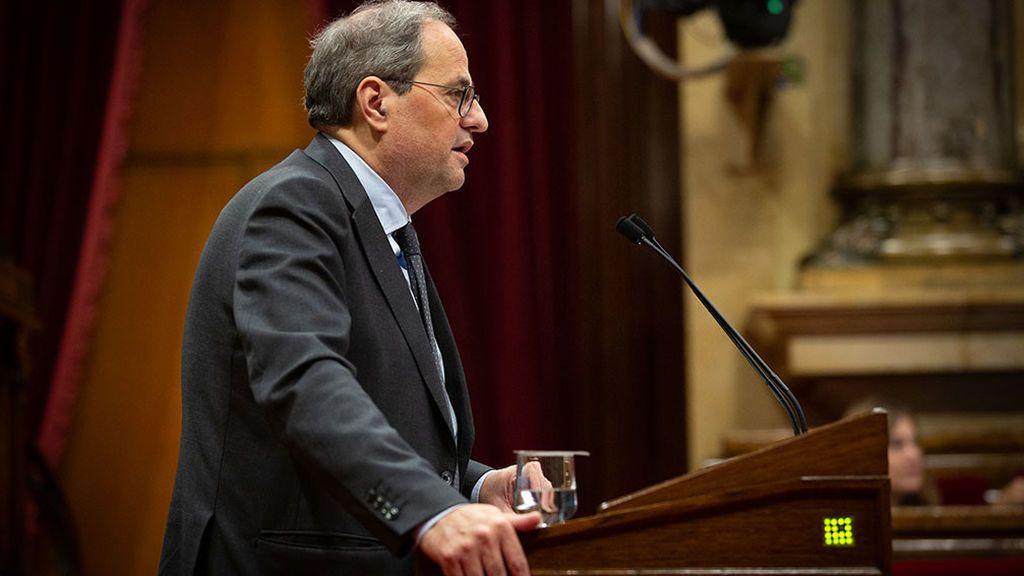 Torra cita a los partidos catalanes el 7 de enero para tantear su compromiso con la autodeterminación