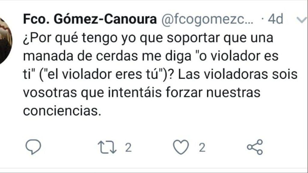 Tweet borrado por el párroco de Zas