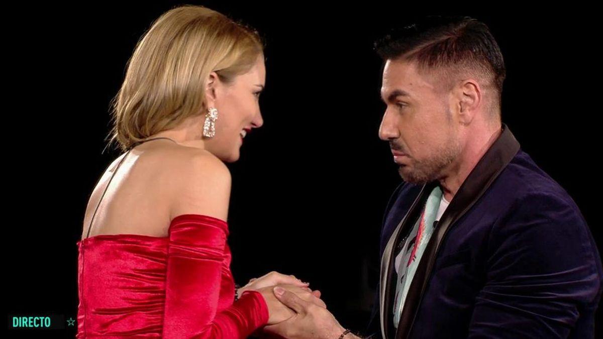 """Alba Carrillo recibe la visita de Miguel Ángel Nicolás y él le da un mensaje de Sonsoles Ónega: """"Dice que siente envidia de tu historia de amor"""""""