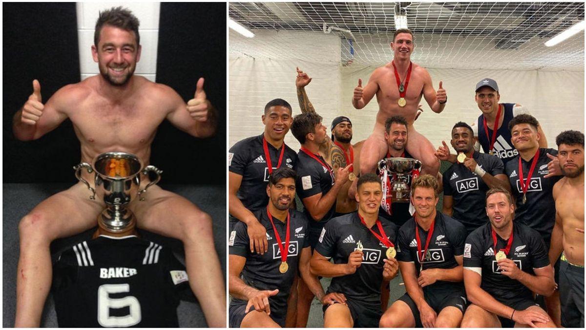 """Los All-Blacks y la tradición de celebrar desnudos sus trofeos: """"Fue solo por las risas"""""""