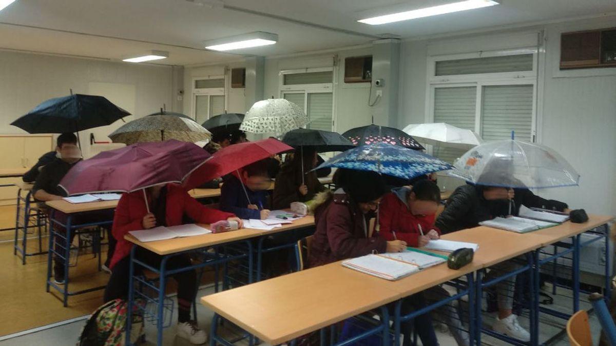 Dando clase bajo la lluvia