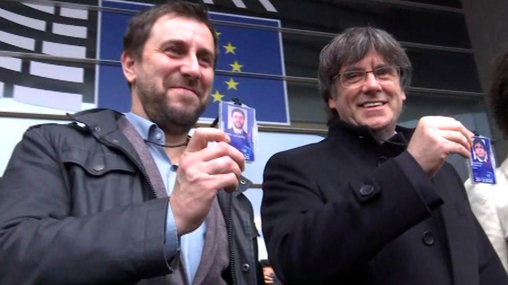 En directo: Puigdemont acude a recoger el acta en el Parlamento Europeo