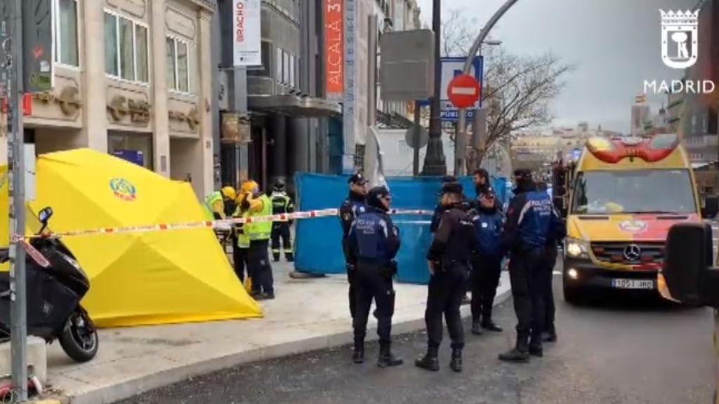 Elsa se cobra la quinta víctima mortal: muere la mujer a la que le cayó un trozo de cornisa en Madrid