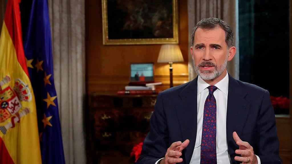 Mensaje del rey en vísperas de un pacto entre Sánchez y el independentismo.