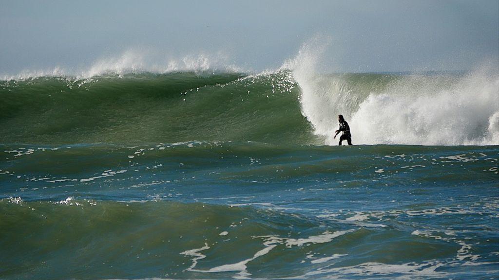 Una gran ola en El Palmar