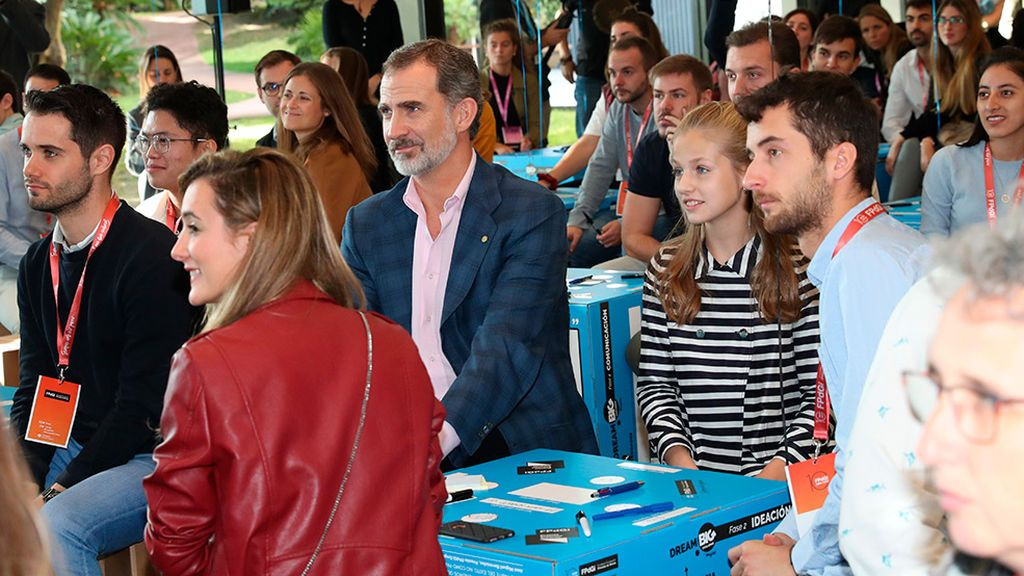 El rey la princesa Leonor en los premios Princesa de Girona