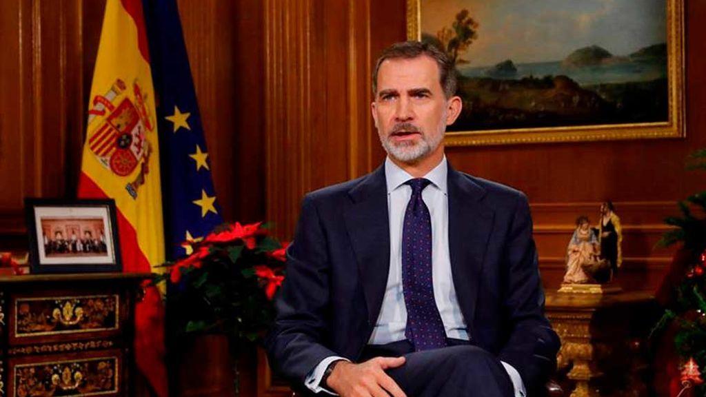 """El rey Felipe VI pide en su mensaje de Navidad  """"integrar nuestras diferencias dentro del respeto a la Constitución"""""""