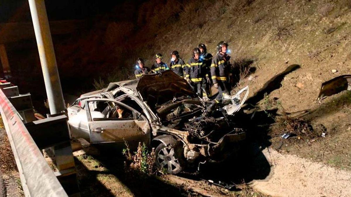 Tres jóvenes de 20 años mueren en un accidente de tráfico en Madrid