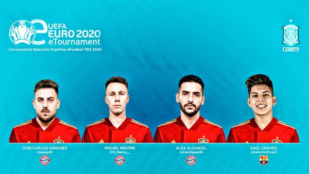 Los representantes de la eSeFutbol para la UEFA EURO 2020 eTournament: tres del Bayern y uno del Barcelona