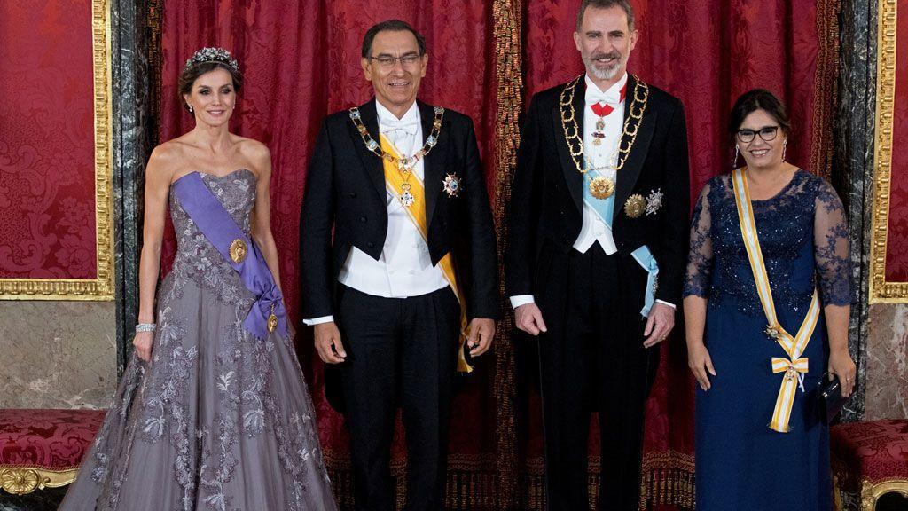 Reina Letizia y rey Felipe VI en Perú