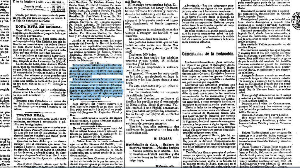 En 1896, madrileños adinerados recibieron el año con uvas y champán