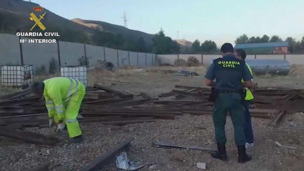Cinco personas procesadas por robar vías de tren y venderlas como chatarra en Madrid