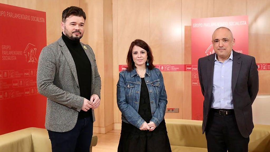 ERC descarta cerrar un acuerdo de investidura con el PSOE antes de fin de año