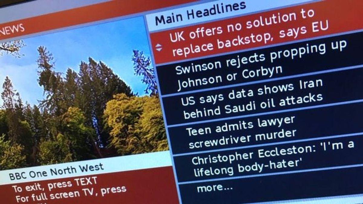 La BBC apaga el teletexto 45 años después de inventarlo