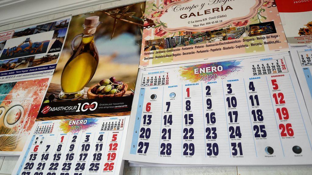 Calendarios publicitarios.
