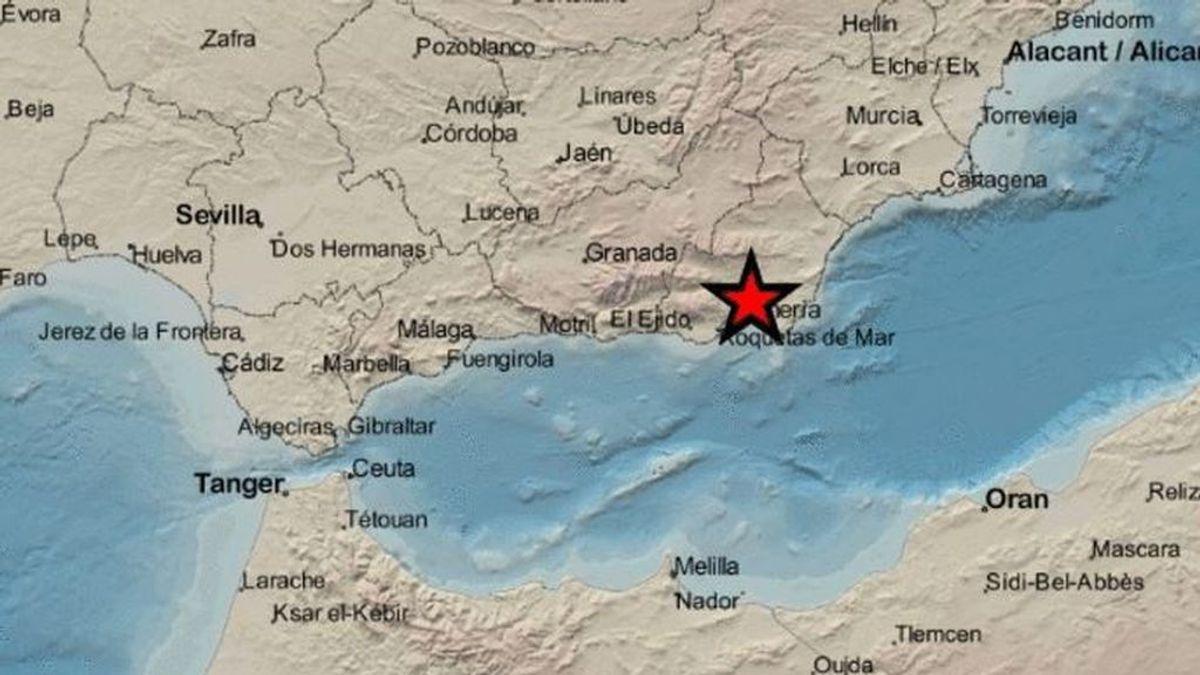 Un terremoto de 3'9 grados sacude Almería en el primer día del año