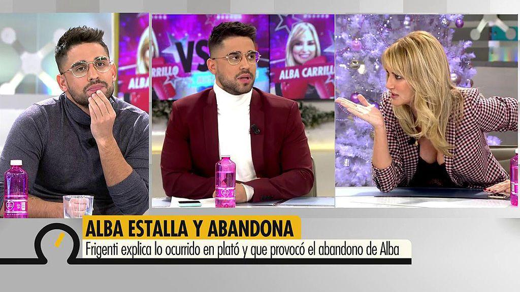 """Frigente, tras su enfrentamiento con Alba Carrillo: """"Si hay una culpable aquí es Lucía Pariente"""""""