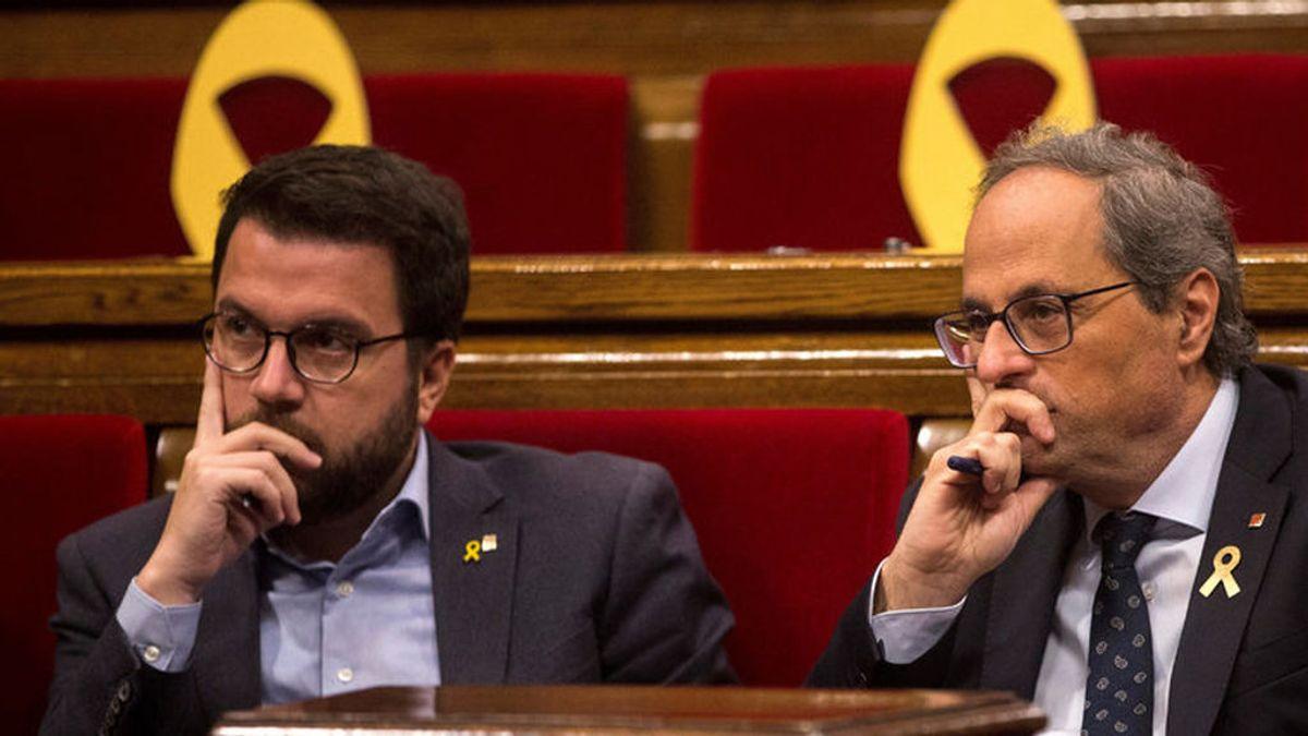 """Torra advierte a Aragonés que el acuerdo ERC-PSOE """"no tiene el visto bueno"""" del Govern"""