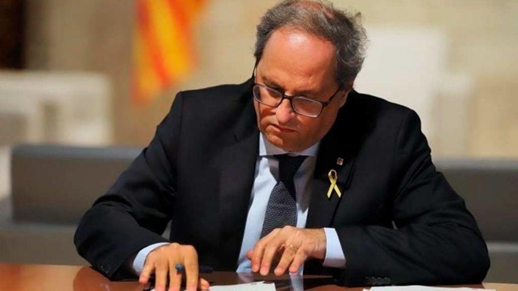 La Junta Electoral Central decide hoy si inhabilita a Torra  y permite a Junqueras ser eurodiputado
