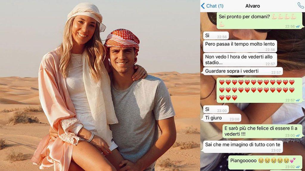 """Los WhatsApp de Morata y Alice Campello una semana después de conocerse: """"Si eres como pareces me casaría mañana contigo"""""""