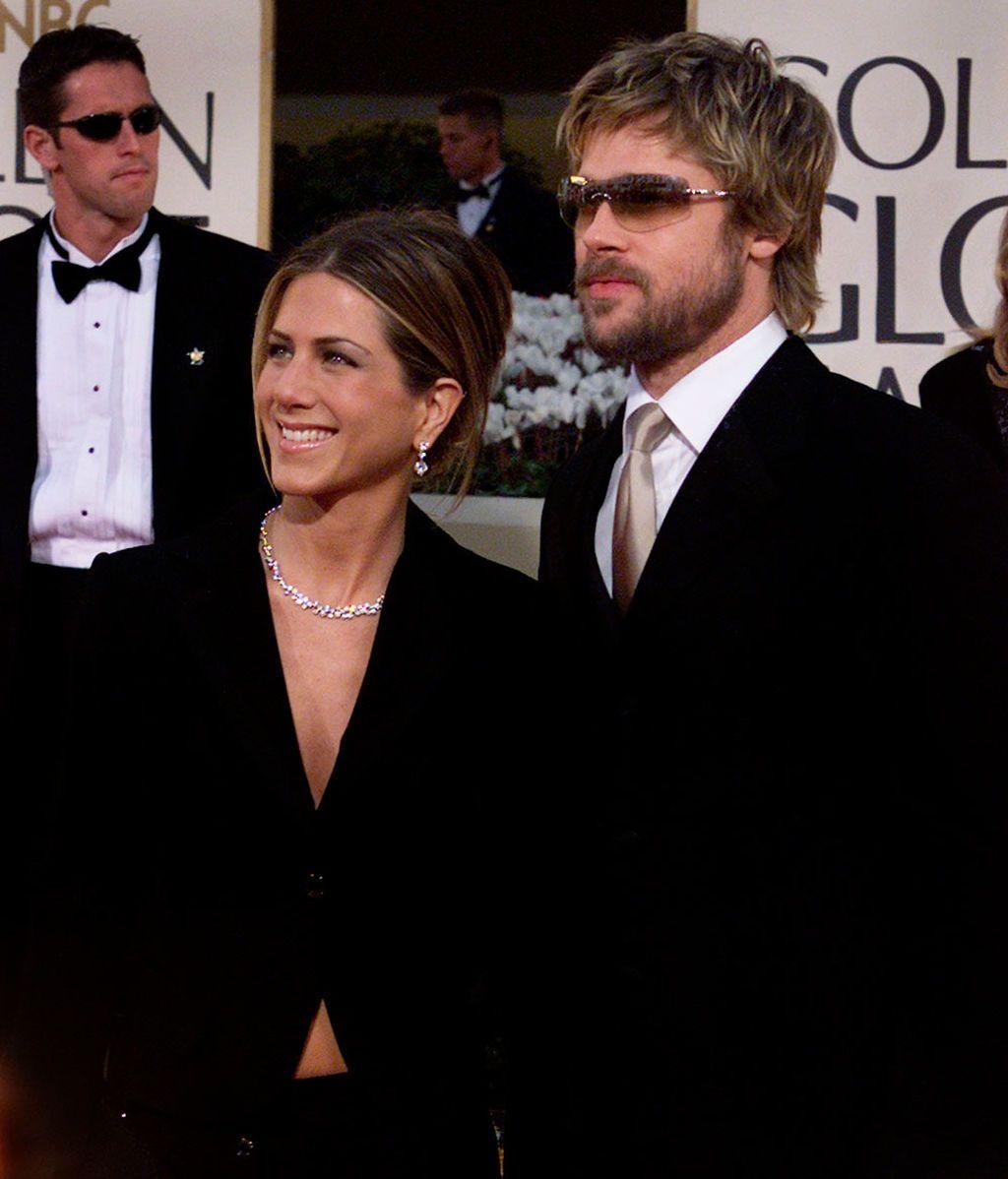 Brad Pitt y Jennifer Aniston en los Globos de Oro
