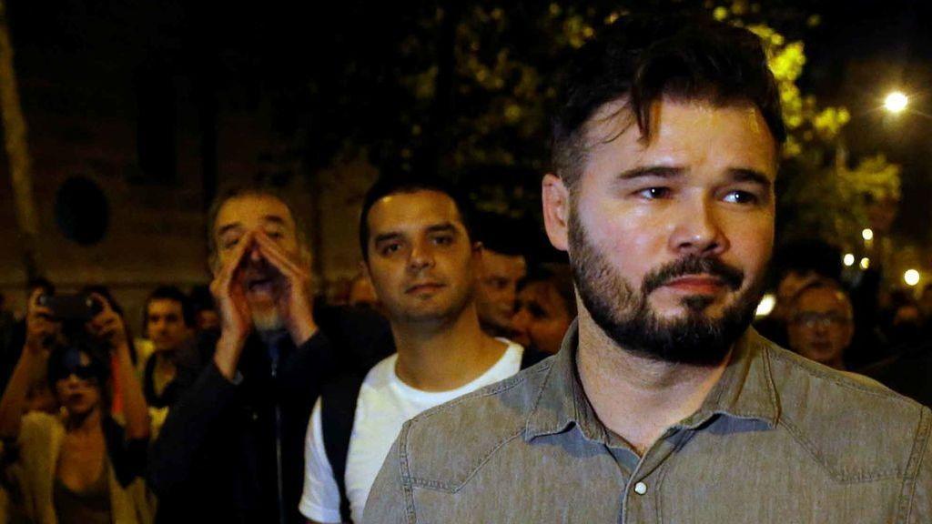 Rufian acusado de 'botifler' por los independentistas