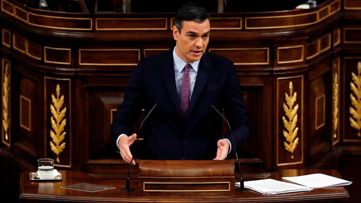 Pedro Sánchez durante la sesión de investidura