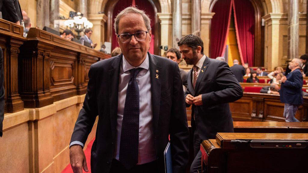 El Parlament celebra un pleno extraordinario por la inhabilitación de Torra