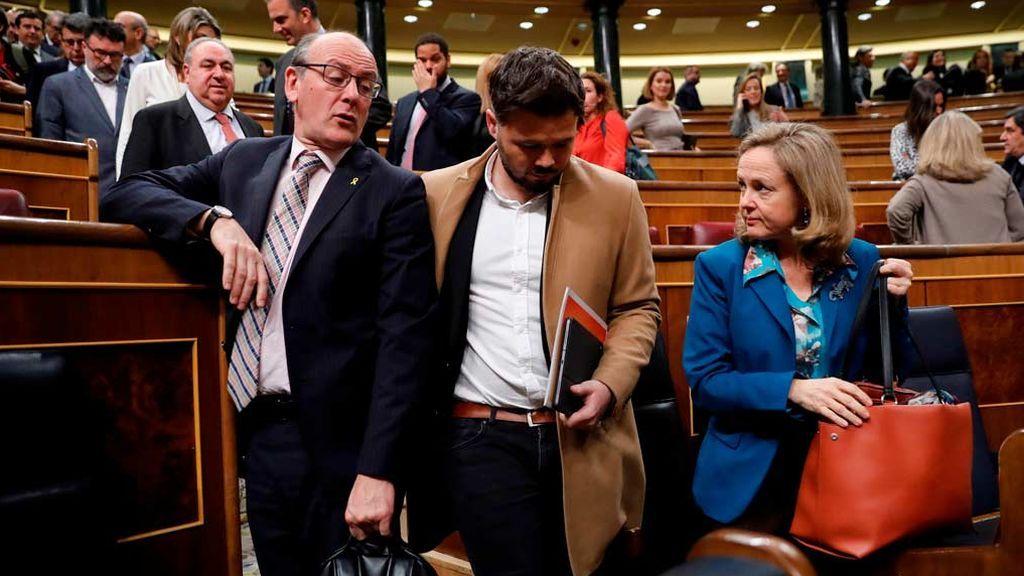 Rufián sale del Congreso