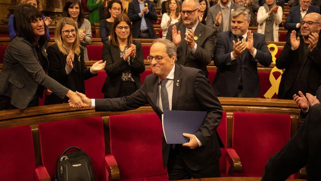 NO PUBLICAR El Parlament aprueba proteger a Torra frente a la inhabilitación que exige la JEC