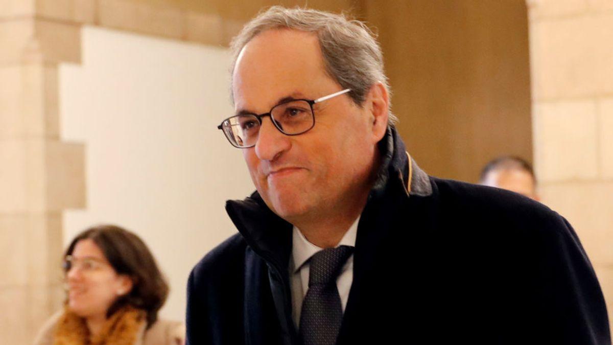 """Es un """"golpe de estado"""": JxCat, ERC y CUP piden ratificar a Torra en el pleno como presidente"""