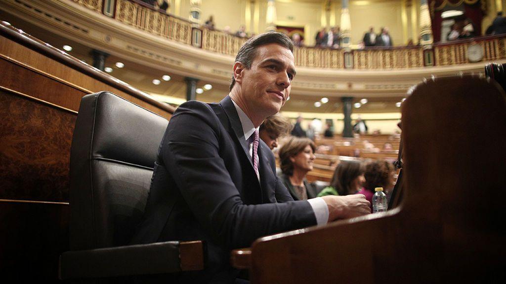 Pedro Sánchez defiende su programa de Gobierno en el debate de investidura