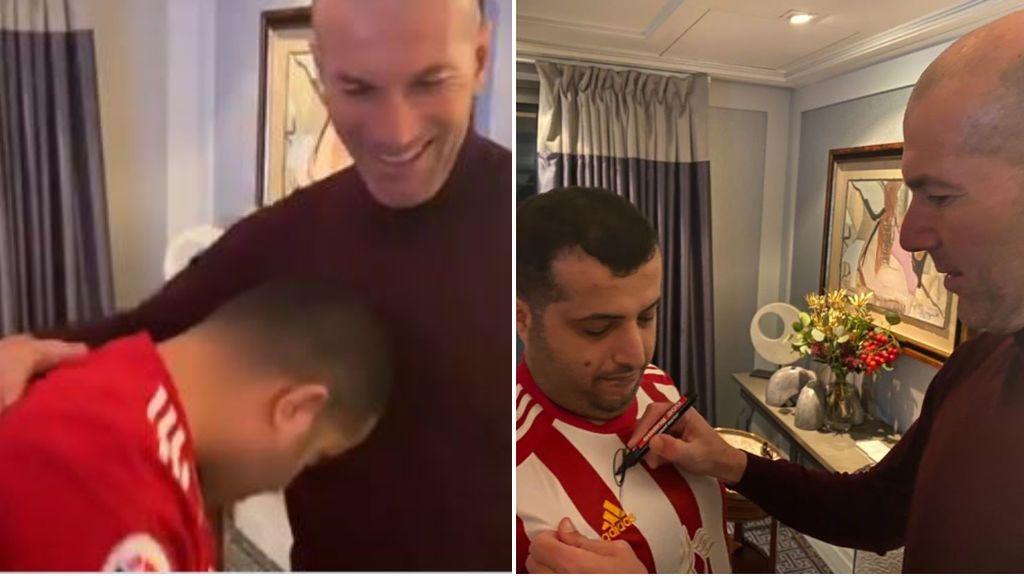 """El jeque del Almería y Zidane emulan el famoso cabezazo de Materazzi: """"Ha sido duro, sangre árabe"""""""
