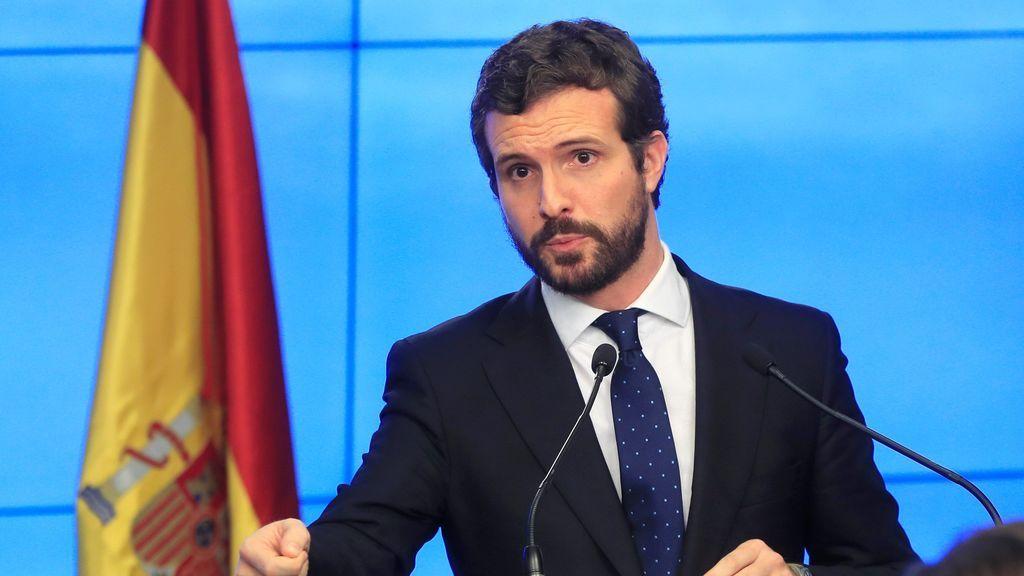 """Pablo Casado exige al Gobierno que condene el """"golpe ilegal"""" contra Guaidó en Venezuela"""
