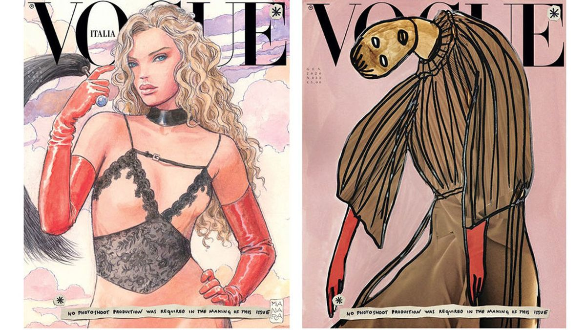 Portadas de 'Vogue Italia' de enero de 2020.